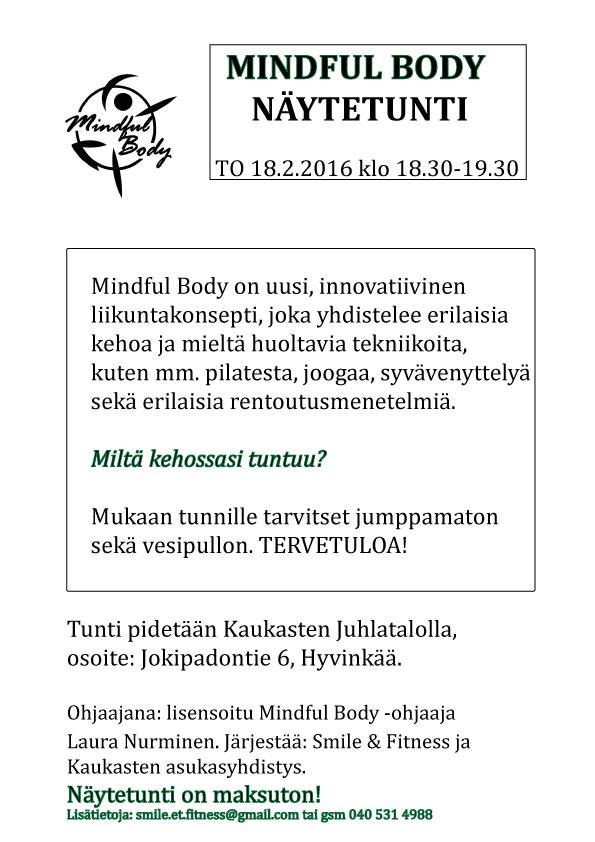 Mindful Body -näytetunti